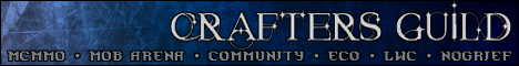++++Crafters Guild++++ [1.10.2]+[Towny]+[McMMO]+[Dynamap]+[Eco]+[LWC]+[MobArena]+[Creative World]+[Deathcontrol]+[Nocheat,Nogrief]