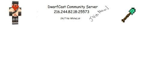 DwarfCraft Community Server No Whitelist 24/7 Join Now!