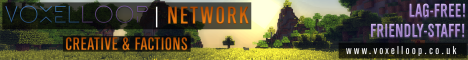 [Lag Free] [Friendly Staff] VoxelLoop Network [Factions] [Creative]