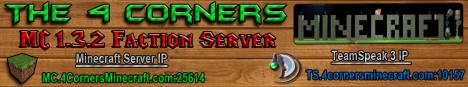 4 CORNERS FACTION PVP RAID SERVER!