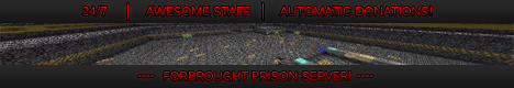 ForBrought Prison! [NoLag] [Donations] [1.4.6/7] [Nether] [Survival world too!]
