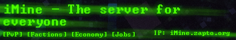 iMine -  The server for everyone.