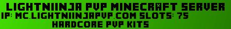 lightniinjaPvP Hardcore PvP Server [Kit PvP, Hardcore World,  NO FACTIONS]