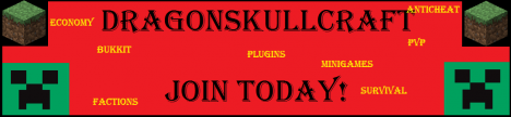 Dragonskullcraft PvP|Factions|Gods|SEARCHING ADMINS