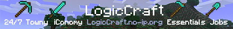 1.4.7 - PvP - 24/7 - LogicCraft - Offline Mode - iConomy - Towny - Essentials - Jobs