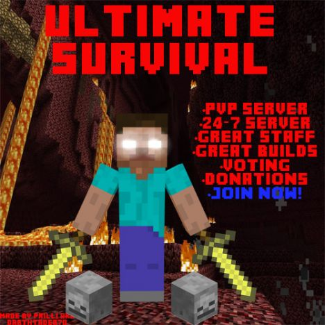 Ultimate Survival 1.6.4 PVP/Factions/NaziZombies/Paintball/Herobrine/Slenderman