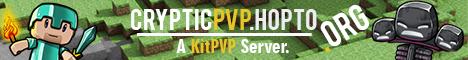 Cryptic PVP ★ >>KitPVP<< ★ >>99% Uptime<< ★