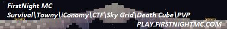 FirstNight MC 1.7.9- 20x20 Plot Towny Server - Island Map - Custom Wild Map - NO LAG