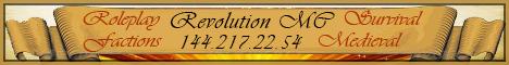 RevolutionMC [24/7][Survival][Factions][SMP][Medieval]