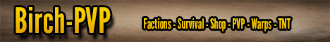 Birch-PVP Factions-Survival-Shop-PVP-Warps-TNT