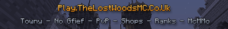 [1.8 Blocks!] TheLostWoodsMC Survival - Great Community - 24/7 - No Grief - McMMO