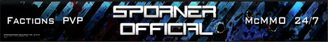 Sporner Official | PVP | Factions | No Lag | Shops | Starter Kits | McMMO | Australian | Griefing | Raiding |
