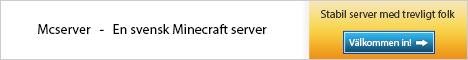 Mcserver.se - Svensk Minecraft Server