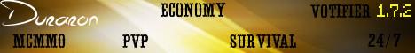 ★ Duraron ★ 1.7.2 ★ PvP ★ mcMMO ★ Economy ★ 24/7 ★