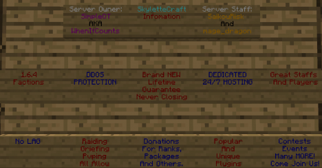 SkyletteCraft [New Server]-[24/7]-[Factions]-[More]