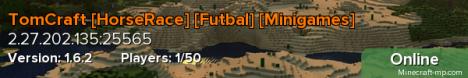 TomCraft [HorseRace] [Futbal] [Minigames]