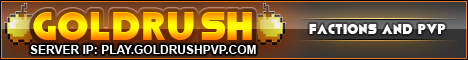 Gold Rush PvP | Minigames | Prison | Factions | Creative