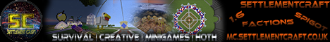 [1.7.4] Settlement Craft - Factions, Creative,Skyblock,MG [24/7 | 99%+ Uptime | No Lag | Friendly Community] JOIN NOW!