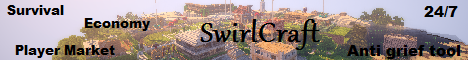 !SwirlCraft! [24/7] [Survival] [leveling system] [market] [Unlimited explorability]