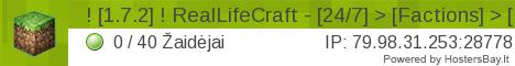 RealLifeCraft.lt - Lietuviskas serveris tau !