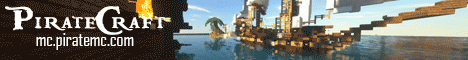 PirateCraft - Pirate themed minecraft server, build working ships and cannons!