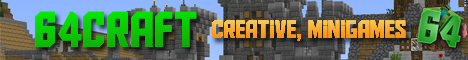 64craft! -=Minigames=-o-=128x128 Creative Plots=-