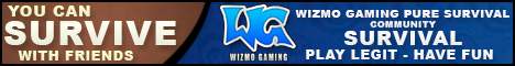 Wizmo Gaming - Pure Survival Community *Old-School MC Experience!*