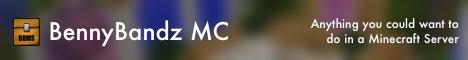 BennyBandz MC [1.7.10 / 1.8] [Prison] [Minigames] [PlotMe] [SG] [Theme Park] [Survival] [Paintball]