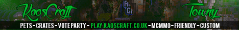 KaosCraft | Towny | Vote Party | McMMO | Crates