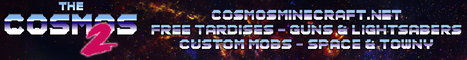 The Cosmos 2 - Sci-Fi Survival | FREE TARDISes | TOWNY + SPACE + MOVECRAFT | LORE | CUSTOM 3D MODELLED MOBS AND ITEMS | NO MODS REQUIRED |