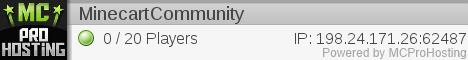 "Minecraft 1.10.2 bukkit server ""Minecart Community"""