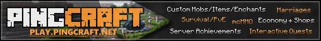 PINGCRAFT SURVIVAL - PvE - mcMMO - Quests - Anti-Grief
