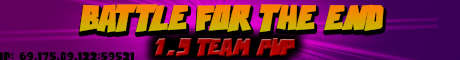 Battle for the End 1.9 Team PVP Server