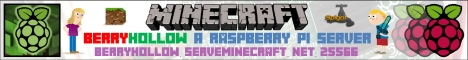 MinecraftPi - Berryhollow - A Raspberry Pi Server [Factions, MCJobs, Lift, PlayTimeRewards, Lockette, mcMMO, Jail, Residence, ChestShop]