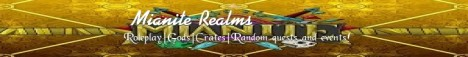Miante realms! Gods | Unique Roleplay | Constant updates| Slimefun| Join now!