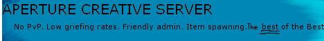 Aperture Build server 24/7 (Spawning) No Pvp!