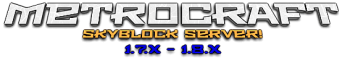 MetroCraft SkyBlock Server