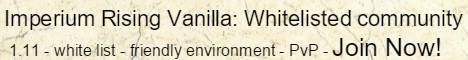 Imperium Rising: Whitelisted Vanilla