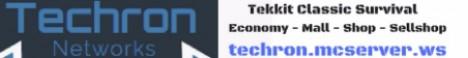 Techron Tekkit Classic survival!