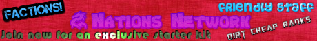 Nation Network! Factions PvP!