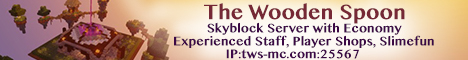 The Wooden Spoon Skyblock Survival Server with Stable Economy and More!