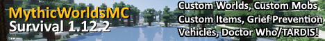 play.MythicWorldsMC.com - Survival / Doctor Who / Custom