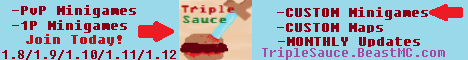 [FIXED BUGS!!] TripleSauce Minigames - (1.8.9-1.12.0) - [SurvivalRoyale, 24/7, CustomGames!]