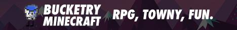 ♛ / Bucketry Minecraft / ♛ Survival / PvP / Towny / Jobs ♛