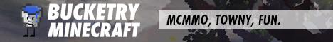 BucketryMC 1.12 ★ Towny ★ Economy ★ McMMO ★ Jobs