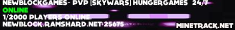 NewBlockGames-(PvP)[SkyWars](HungerGames){24/7}