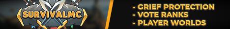 SurvivalMC | Semi-Vanilla 1.12.2 | Vote Ranks - GriefPrevention - Pets