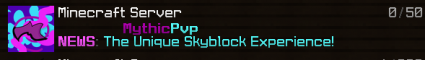MythicPvp   Unique Skyblock Experience