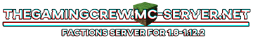 (1.8-1.12.2) The Gaming Crew Community Minecraft Server