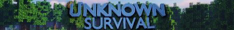 Unknown Survival - Custom Mobs, Items, Furniture, Terrain And More!